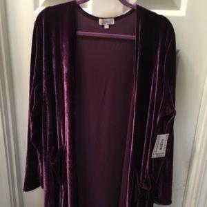Lularoe Sarah XL purple velvet like fabric